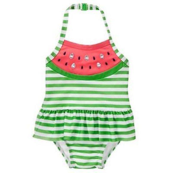 Gymboree Baby Girls 1-Piece Geo Print Swimsuit